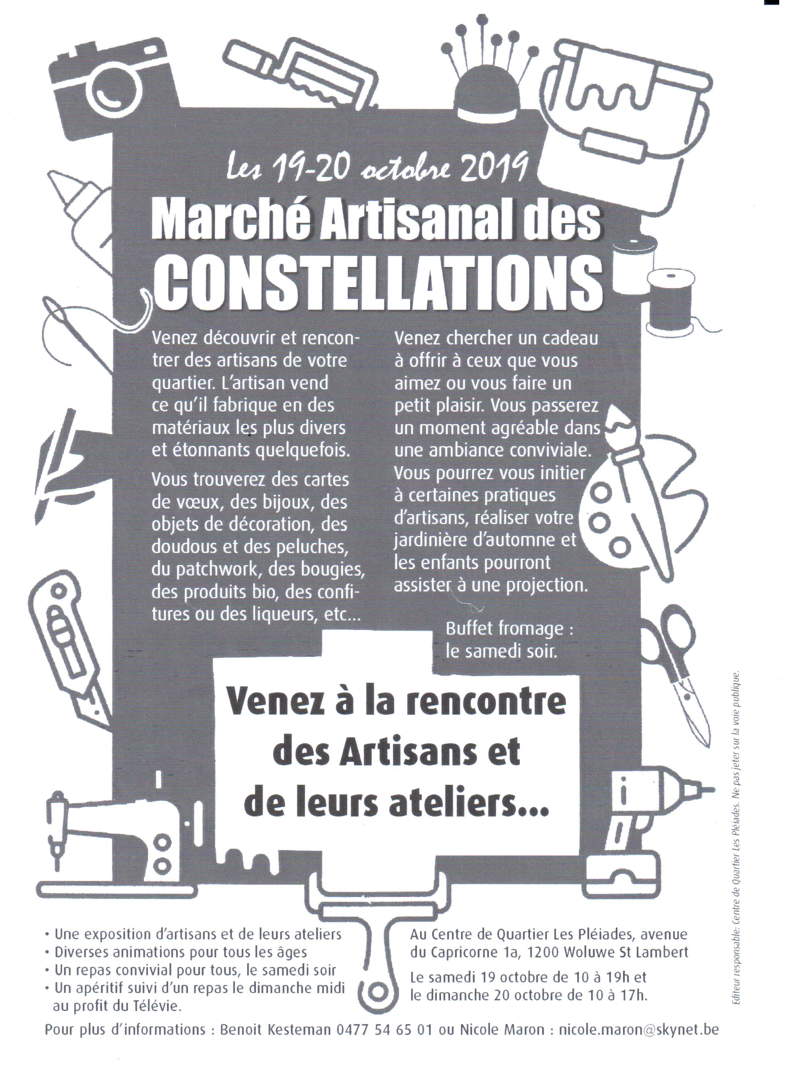 Marché artisanal des Constellations @ Les Pléiades